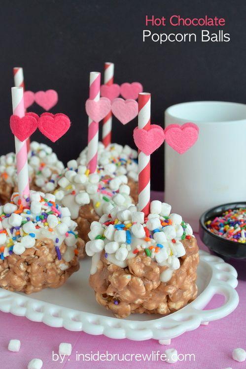 Hot Chocolate Popcorn Balls | Recipe | Green, Sprinkles ...