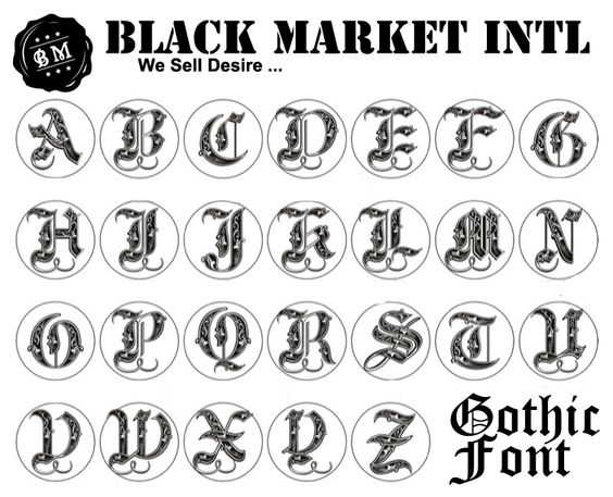 Gothic font for wax seal calligraphy ideas pinterest