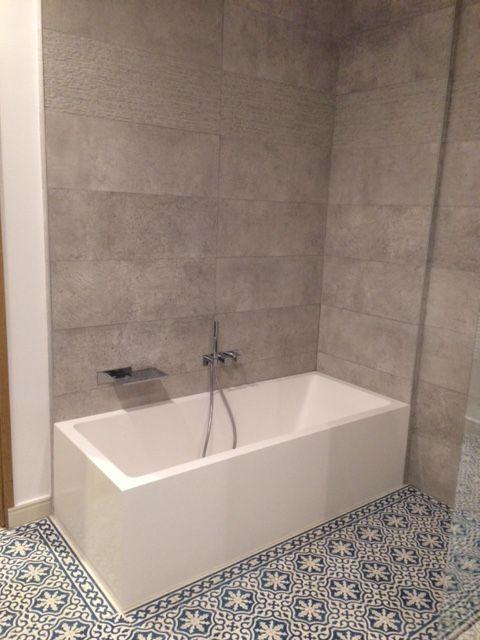 Bathroom bath, Cement tiles and Cement on Pinterest