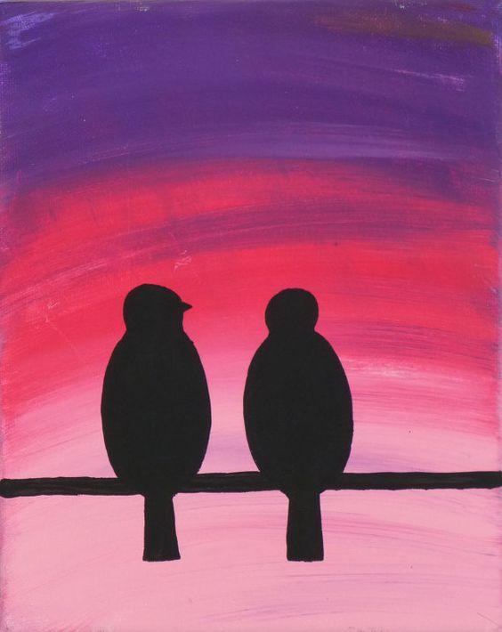 Dusk-acrylic on canvas-8 x 10- $20.00 www.facebook.com/courtnificentcreations