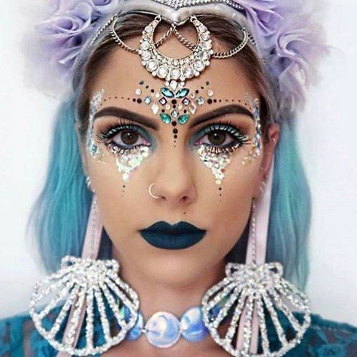 20+ Face Jewel Rhinestone Makeup Ideas To Inspire You – Lupsona efd4de2ab8c5