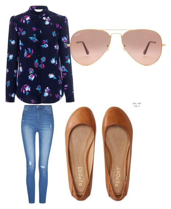 """""""Floral fun"""" by brittany-wilkewitz on Polyvore featuring Rebecca Taylor, Aéropostale and Ray-Ban"""