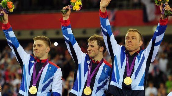 Philip Hindes, Jason Kenny and Sir Chris Hoy - Cycling - London 2012 - Mens Team Sprint
