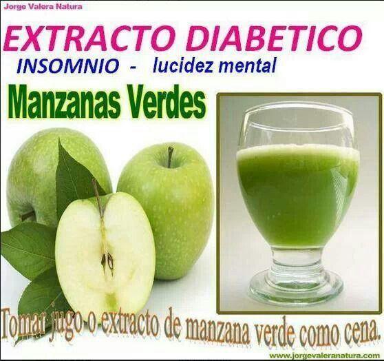 Extracto diabetico con manzana verde