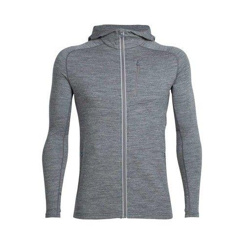 Icebreaker Mens Quantum Long Sleeve Zip Hood Cover Ups