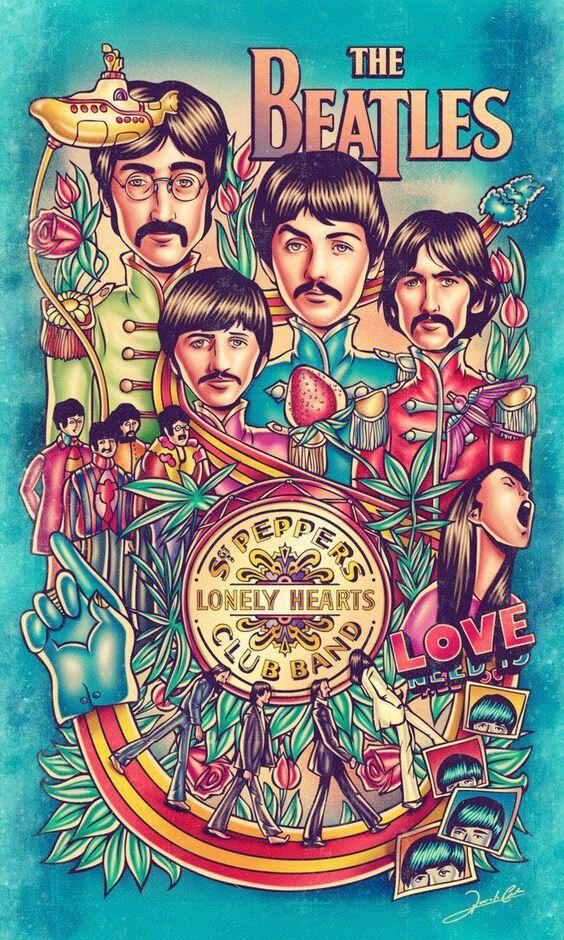 Imagem De Poster Dos Beatles Por Jezebelisgone Em Music Maiores