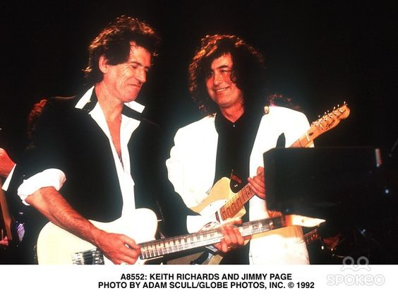 Keith Richards and Jimmy Page  Photo by Adam Scull/Globe Photos, Inc.: