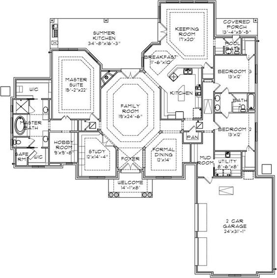 House plan 9036 00061 mediterranean plan 3 186 square for Safe room design plans