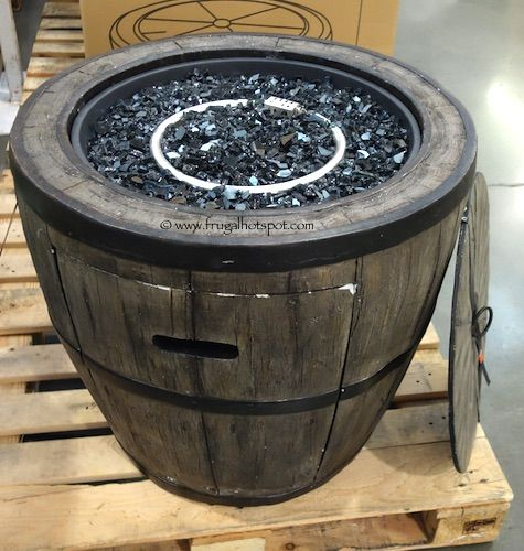 Global Outdoors 27 Wine Barrel Gas Fire Table Costco FrugalHotspot