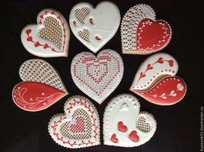 """Имбирные пряники """"Для любимых"""" - имбирный пряник,мёд,подарок девушке,сладкий подарок"""