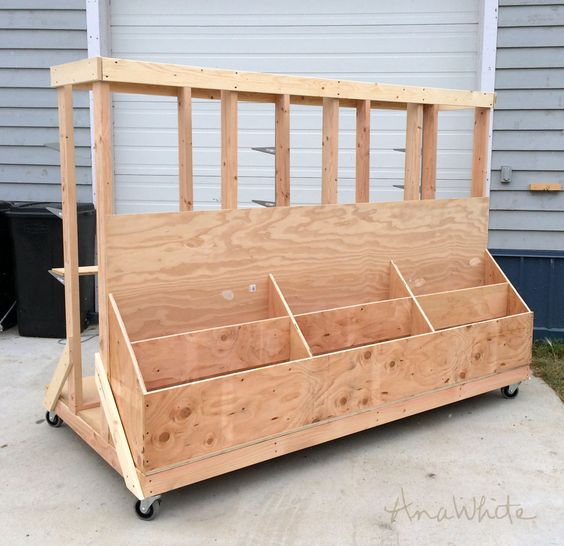 Ana White | Build a Ultimate Lumber and Plywood Storage Cart | Free and Easy DIY Project and Furniture Plans