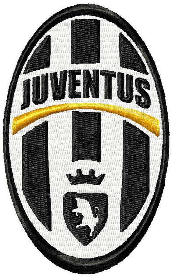 Juventus fc logo machine embroidery design by