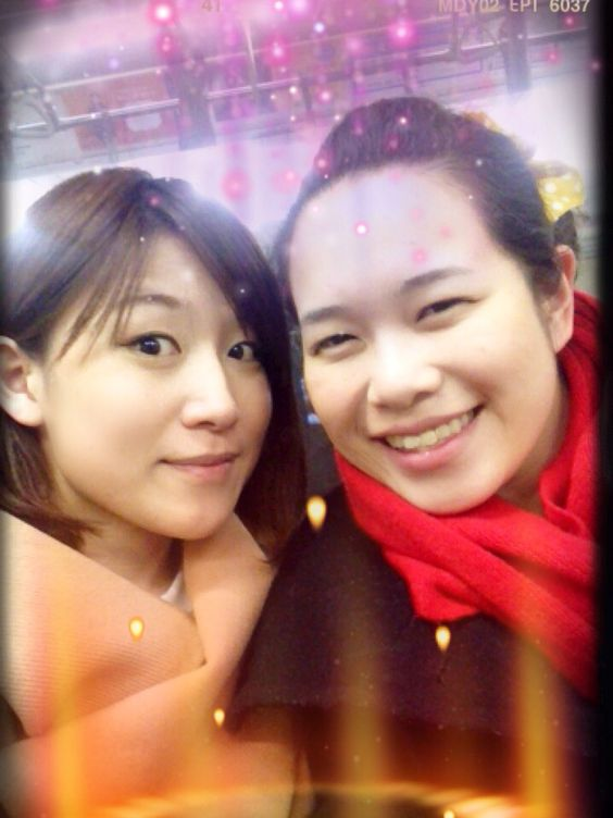 With my lovely high school classmate! Missed you so much!