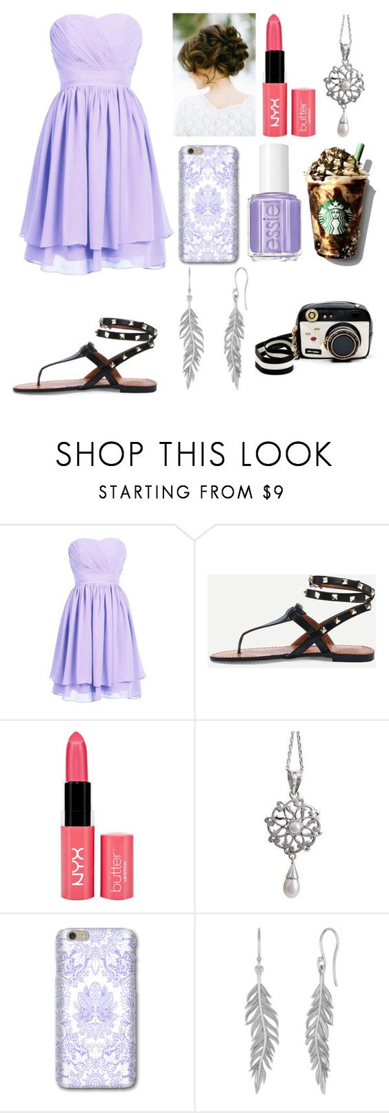 """Untitled #612"" by lucy-smith-2 ❤ liked on Polyvore featuring NYX, NOVICA, Essie and Betsey Johnson"