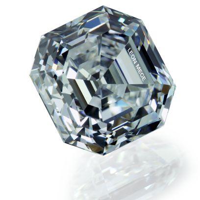 asscher cut diamond ideal cut by leon mege