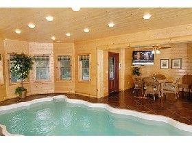 Arcade games other and pools on pinterest - Log cabins with indoor swimming pools ...
