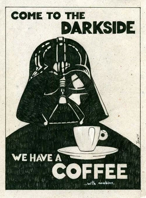 We love a strong cup of black coffee! How about you? #Coffee #MrCoffee #StarWars