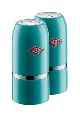 Our Wesco Salt & Pepper Shaker Set in Turqouise will shake up your culinary skills! #wesco #shakeitup