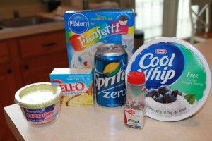 Funfetti Cupcake Ingredients- 110 calories per cupcake; 2 points for my weight watcher friends.