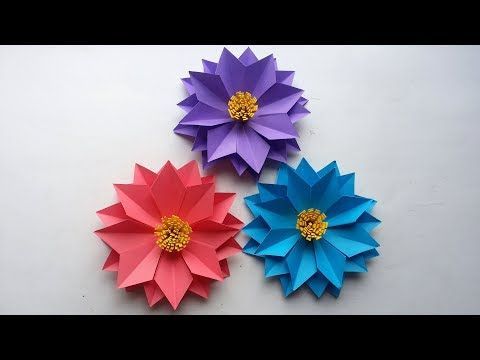 How to make small rose paper flower | Easy origami flowers for ... | 360x480