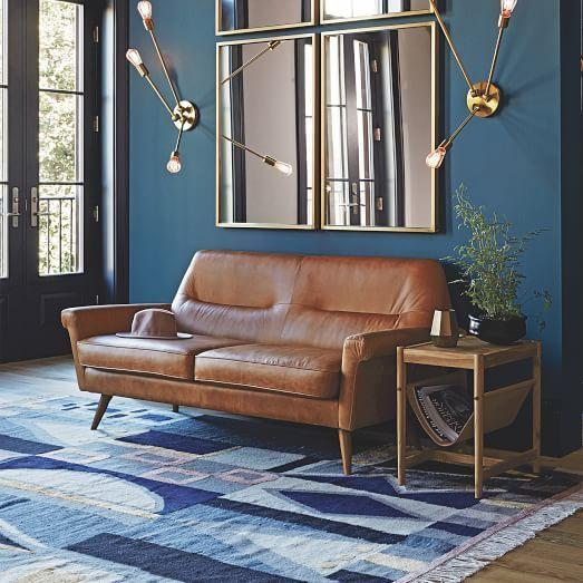 Denmark Leather Loveseat | west elm