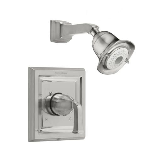 American Standard T555 527 295 Town Square Shower Only Trim Kit With 3 Function Flowise Showerhead Satin Nickel Rev Tub And Shower Faucets Shower Tub Tub Spout