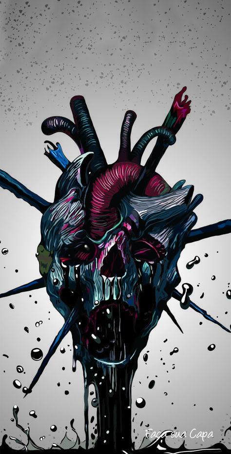 23 Ideas For Nature Wallpaper Cartoon In 2020 Skull Art Skull