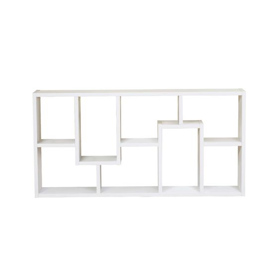 White Maze Bookcase Dotandbo 197 Display Books And Other Essentials That Make You