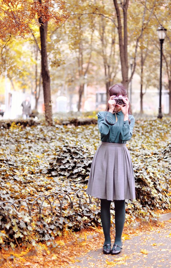 ❤ New outfit post from New York!   http://www.rosaspinavintage.com/2012/11/emerald-green.html