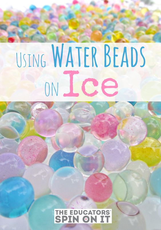 Exploring with Water beads and Ice in the Backyard for some Winter and Science Fun with  kids from The Educators' Spin On It