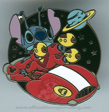 Walt Disney World® Cast Lanyard Collection 4 - Stitch's Spaceship - Version B