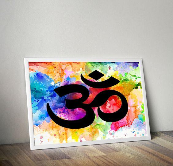 Yoga Meditation Art - Om Art Print - Yoga Studio Decor - Buddhist Art…