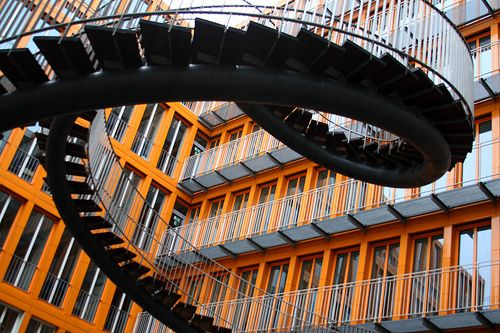 Crazy staircase at the KPMG Building in Munich by Alaskan Dude, via Flickr