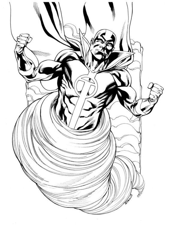Red Tornado By Robert Atkins Robertatkins Redtornado Johnsmith Tomorrow Android Justicesociety Superhero Coloring Pages Superhero Coloring Red Superhero