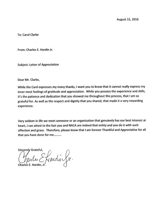A wonderful letter recently received in our #Charlotte office - hardship letter
