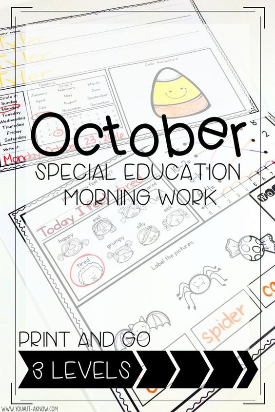 Need a morning routine in your classroom? These predictable Special Education Morning Work pages are perfect activities for developing a classroom routine. Each morning students complete a variety of academic and fine motor skills to warm up for their day!