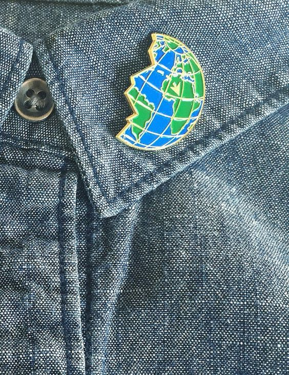 Mix and match BFF Pins by OccasionalGrownup on Etsy Travel lover lapel pin!