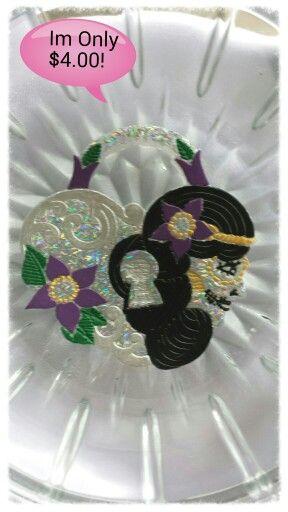 New Halloween/Sugar Skull Heart Locket Pendant! www.facebook.com/#!/groups/FlutterByFairyFort