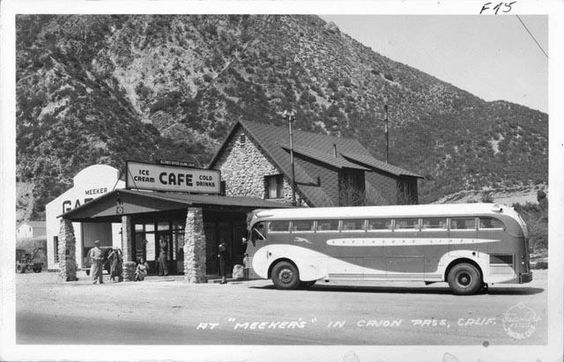 Meeker's Inn.Cajon pass California, 1938. Photo by Burton Frasher.