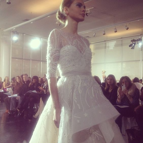 Beautiful detail work on this gown by Rivini