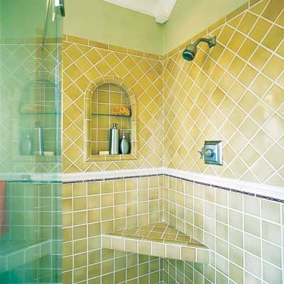 use stock tile set on diagonal to look custom