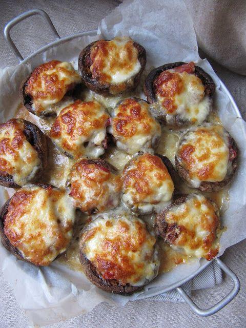 La cuisine d'ici et d'ISCA: Champignons farcis à l'italienne