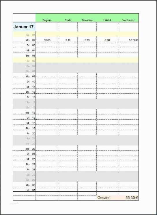 Qualitat Stundenzettel Vorlage 2017 In 2020 Geschaftsbrief Vorlage Vorlagen Zettel