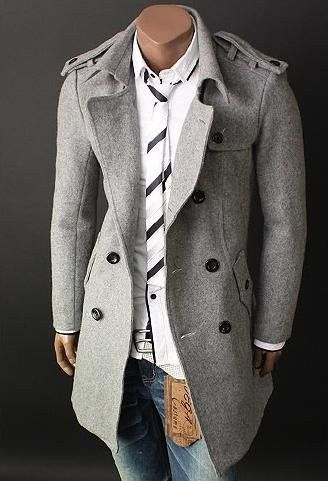 Double breasted Trench and Wool on Pinterest
