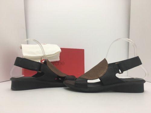 Arche Saoko Black Bronze Leather Women's Low Heel Comfort