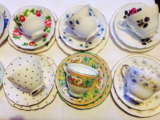 Ditsy's tea cup trios