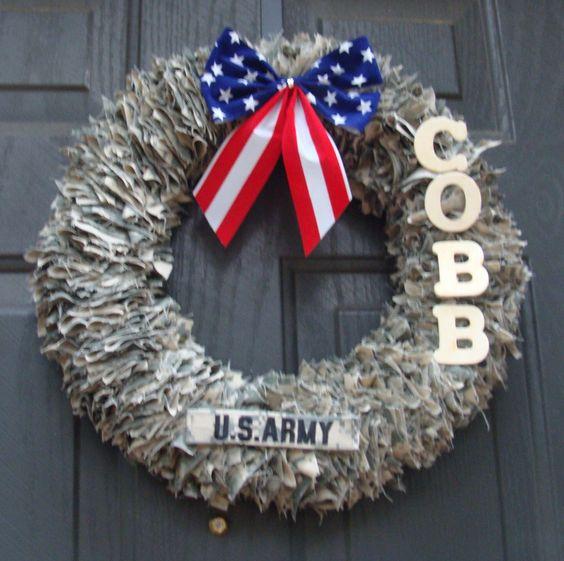 decorative wreaths door decoration home decor military wreath patriotic wreath - Decorative Wreaths