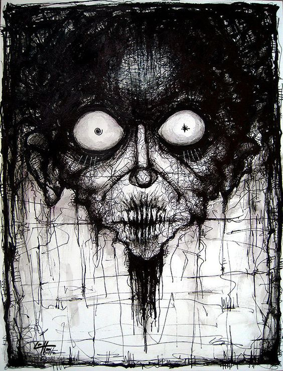 goth horror pencil drawings   Chandeliers & Pendant Lights