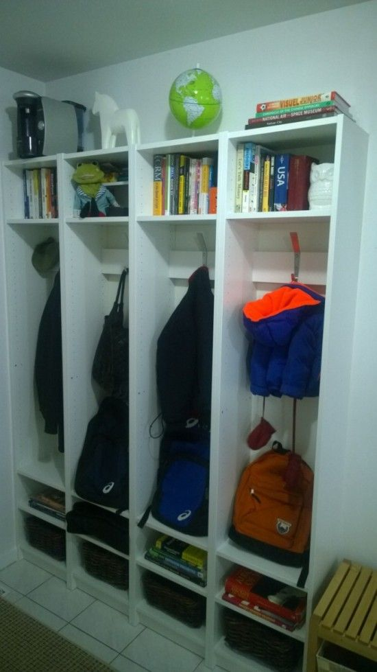 Built-in Entryway Cubbies Using IKEA BILLY Bookcases