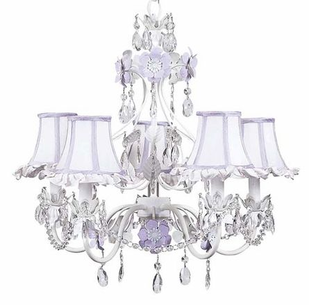 I want to put a pretty chandelier in her room but Alessio thinks our ceilings are too low.  We have 8ft ceilings cause we have a home from 1980's.  What do you think?